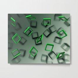 Falling Green Metal Print