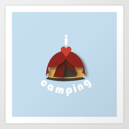 I Heart Camping Art Print