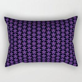 Purple Asterisk flower pattern Rectangular Pillow