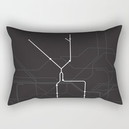 London Underground Northern Line Route Tube Map Rectangular Pillow