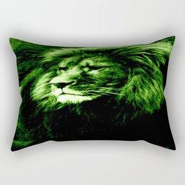 Green LION Rectangular Pillow