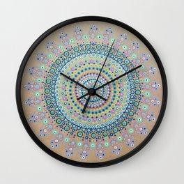 Mursy Hill Wish Board Mandala Wall Clock