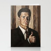dale cooper Stationery Cards featuring Agent Dale Cooper / Twin Peaks by Heather Buchanan