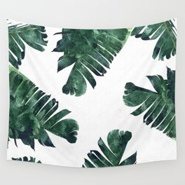 Banana Leaf Watercolor #society6 #buy #decor Wall Tapestry