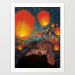 Lovers Art Print