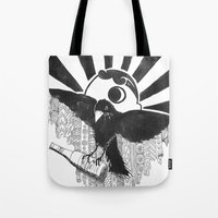 baltimore Tote Bags featuring Boboh Baltimore by Adrienne S. Price