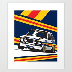 Ford Escort RS2000 Art Print