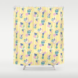Playful Yellow Shower Curtain