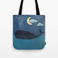 star Tote Bags featuring Star-maker by Terry Fan