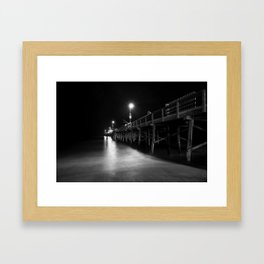Newport Pier Framed Art Print