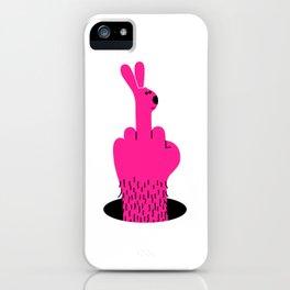 Rude Rabbit iPhone Case