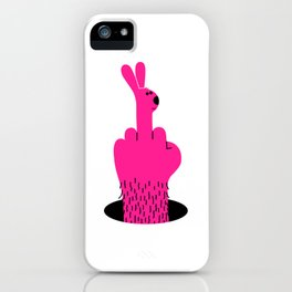 Rude Rabbit iPhone Case