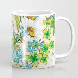 Adorable white sunflower texture Coffee Mug