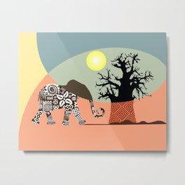 African Safari I Metal Print