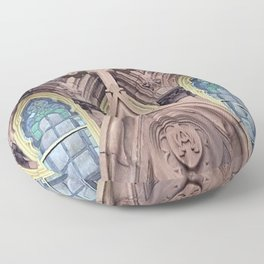 Church Crossing Architecture Floor Pillow