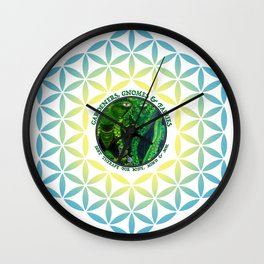 Pastel Petals Garden Gnome Fairy Flower of Life Wall Clock