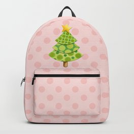 Pink Polka Dots Christmas Backpack