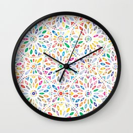 Flower's petals Wall Clock