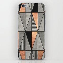 Concrete and Copper Triangles iPhone Skin