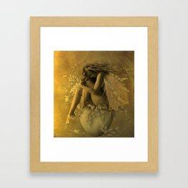 Flower Pot Fairy Framed Art Print