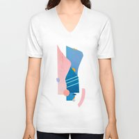 southwest V-neck T-shirts featuring southwest by cardboardcities