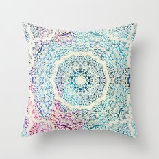 Watercolor Mandala Throw Pillow
