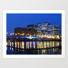 Boston Tealights Art Print