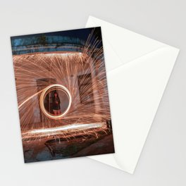 Aro en llamas Stationery Cards