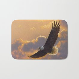 Bald Eagle - Soaring Spirit Bath Mat