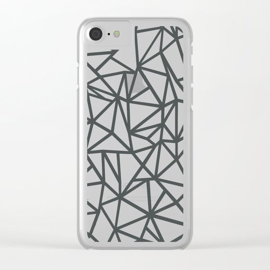 Ab Marb Grey 2 Clear iPhone Case