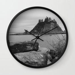 Evening At La Push Beach Wall Clock