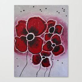 Red Flowersa abstract painting Canvas Print