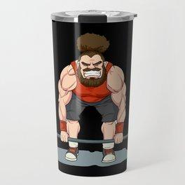 Weightlifting   Fitness Workout Travel Mug