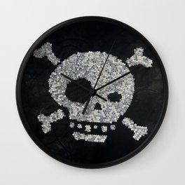 Confetti's skull Wall Clock