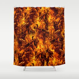 Fire and Flames Pattern Shower Curtain
