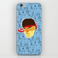 street fighter iPhone & iPod Skins featuring Ryu - Street Fighter by Kuki