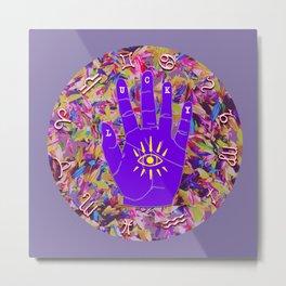 Lucky Zodiac Hand 17 Circle v2 Metal Print