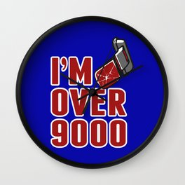 I'm Over 9000 Wall Clock