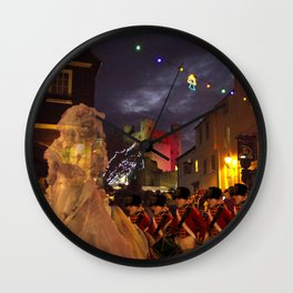 Ghost of Charles Dickens Past Wall Clock