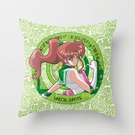Sailor Jupiter - Crystal Intro Throw Pillow