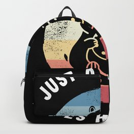 Just a Girl who loves Hamsters Cute Gift Backpack