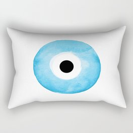 Watercolor Evil Eye Rectangular Pillow