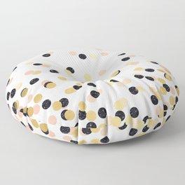 Pink & Black Polka Dots Floor Pillow