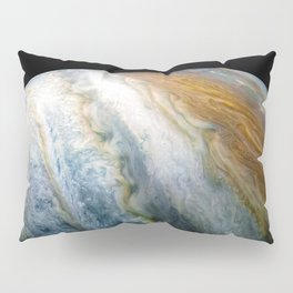 Close up of Planet Jupiter from Juno flyby (2017) Pillow Sham