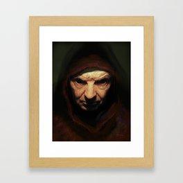 Death Face Framed Art Print