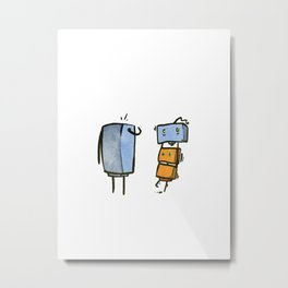 Cutebots: you dropped this Metal Print