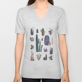 Watercolor Catus Unisex V-Neck