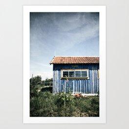 La Cabane bleue Art Print