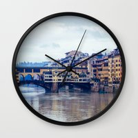 florence Wall Clocks featuring Florence by Kassie Jackson