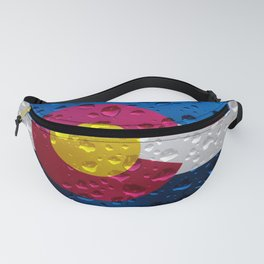 Flag of Colorado - Raindrops Fanny Pack